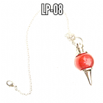 RED JASPER DOWSING PENDULUM..   LP-08